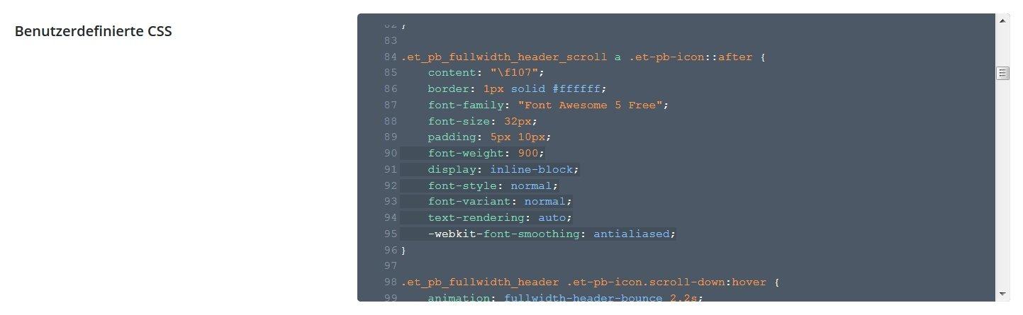 CSS Angaben durch neue Font Awesome Free Angaben austauschen
